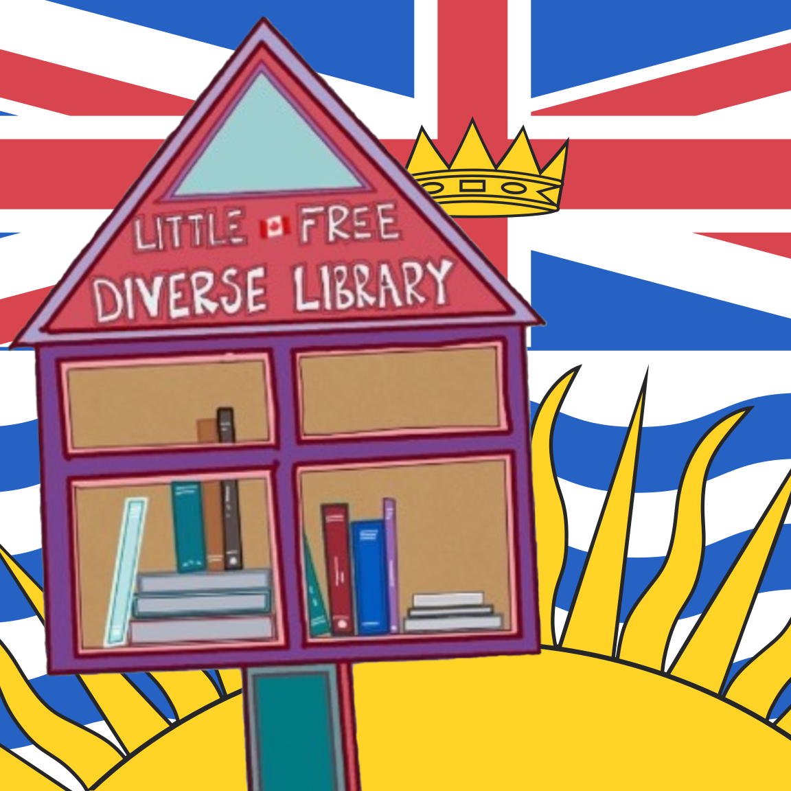 Badge for Little Free Diverse Libraries BC