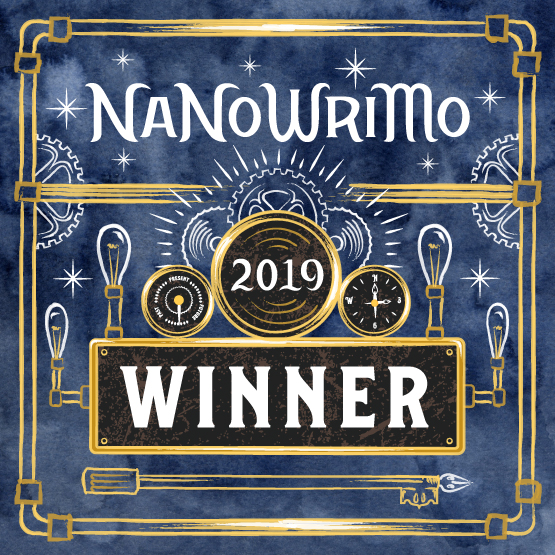 Winner's badge from Nanowrimo 2019
